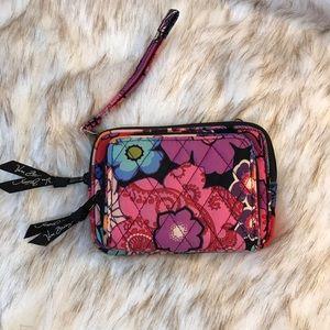 Vera Bradley cell phone holder wallet wristlet bag